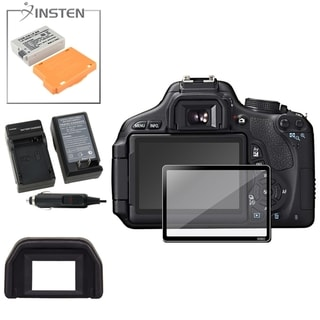 BasAcc Charger/ Battery/ Glass Protector/ Eyecup for Canon EOS 600D