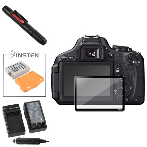 INSTEN Charger/ Battery/ Protector/ Cleaning Kit for Canon EOS 600D