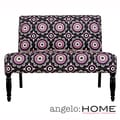 angelo:HOME Bradstreet Pinwheel Dark Gray Armless Settee