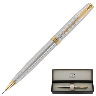 Parker Sonnet Chiselled Tartan Gold Trim 0.5mm Mechanical Pencil