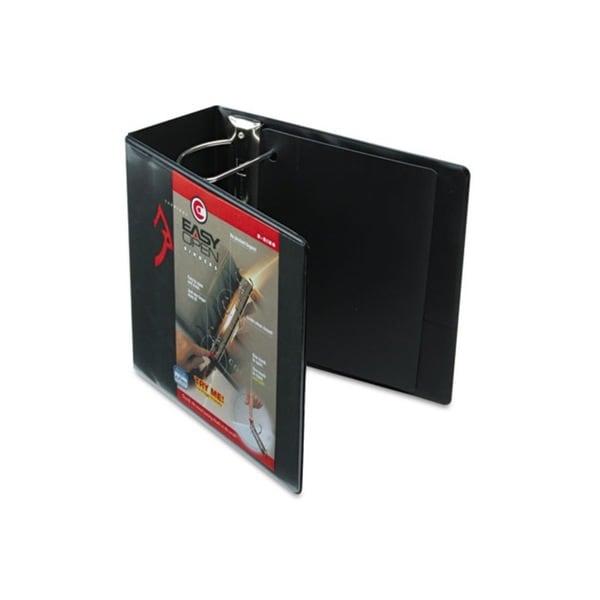 Cardinal Recycled ClearVue EasyOpen Vinyl D-Ring Black Presentation Binder (Pack of 2)