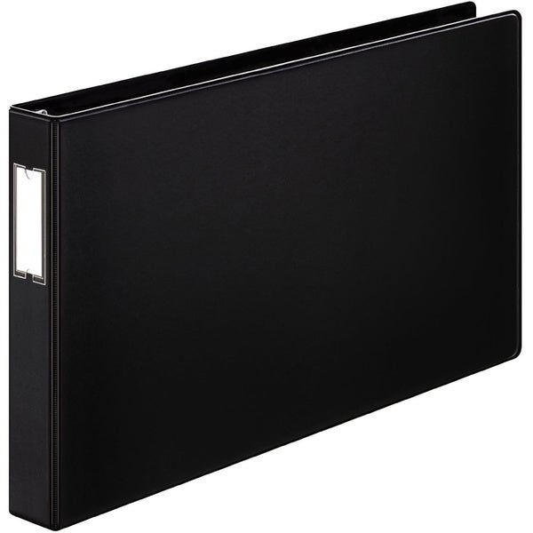 Cardinal EasyOpen Slant-D Tabloid Black Reference Binder (Pack of 6)