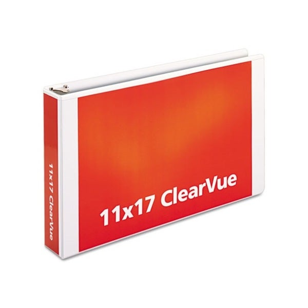 Cardinal ClearVue Slant-D White Ring Binder (Pack of 6)