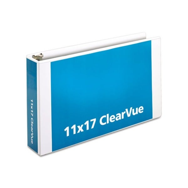 Cardinal ClearVue Slant-D White Ring Binder (Pack of 2)