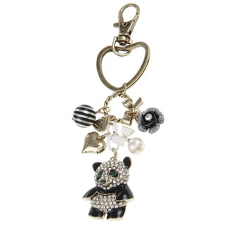 Betsey Johnson Panda Charm Key Chain
