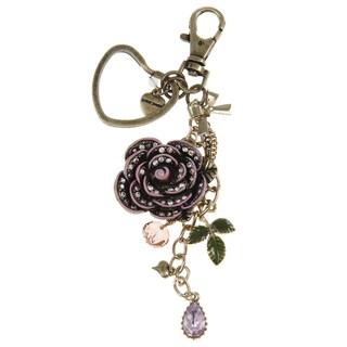 Betsey Johnson Pink Rose Key Chain