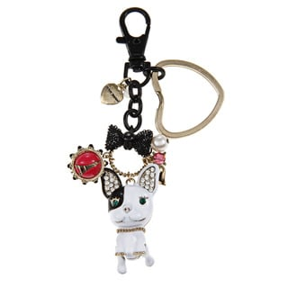 Betsey Johnson French Bulldog Key Chain