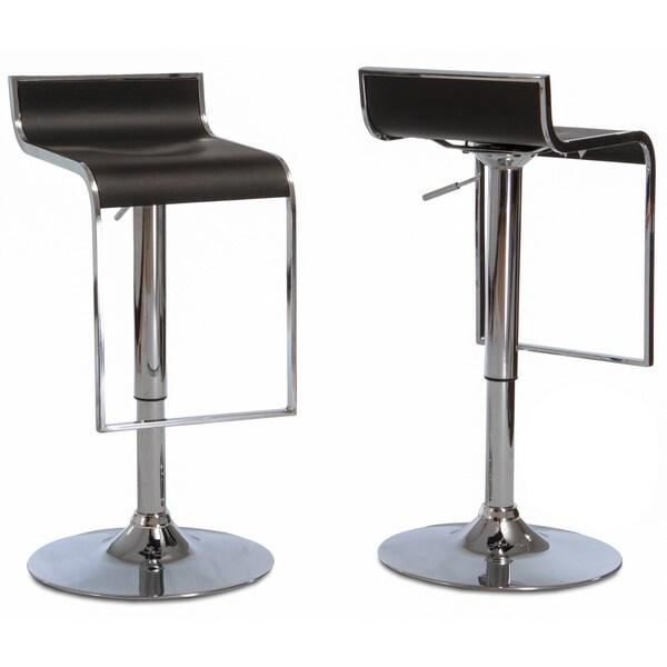 Christopher Knight Home Ruane Black PVC Adjustable Barstools (Set of 2)