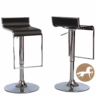 Christopher Knight Home Ruane Black PVC Adjustable Barstools (Set of 2)