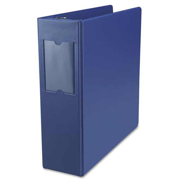 Universal Suede Finish Vinyl Round Ring Royal Blue Binder with Label Holder (Pack of 3)