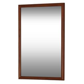DreamLine Framed Mahogany Bathroom Mirror