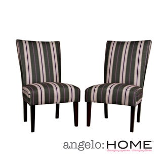 angelo:HOME Bradford Founding Stripe Armless Chairs (Set of 2)
