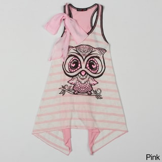 Sweetheart Jane Short Sleeve Owl Printed Tunic.
