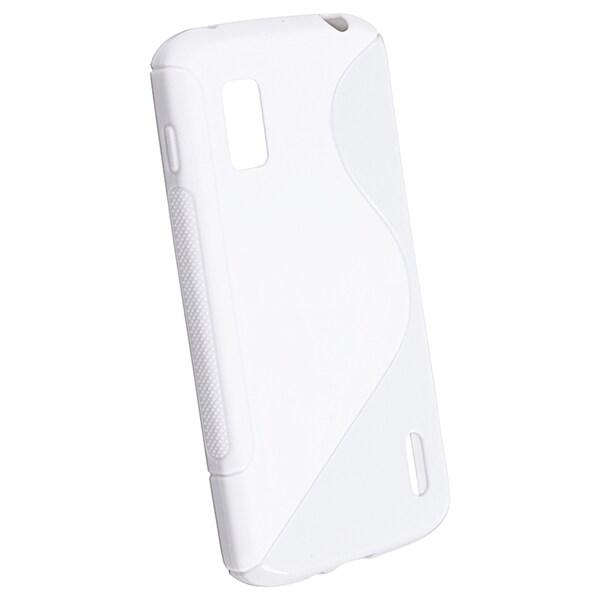 BasAcc White S Shape TPU Rubber Case for LG Nexus 4 E960