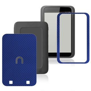 BasAcc Carbon Fiber Blue Decal Sticker for Barnes & Noble Nook HD
