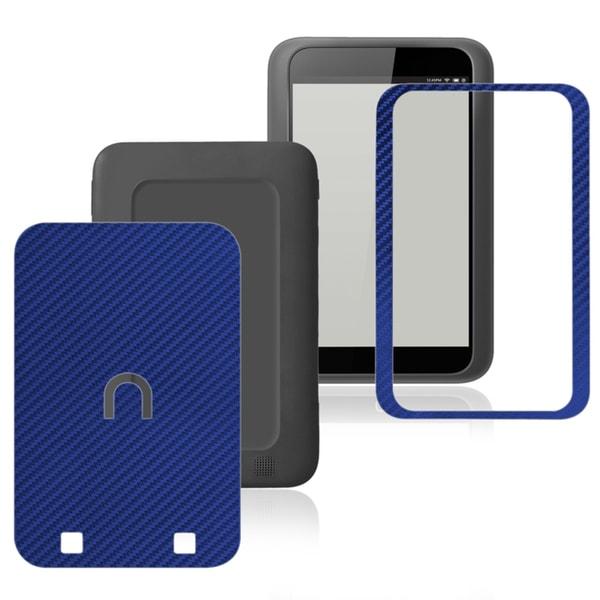 INSTEN Carbon Fiber Blue Decal Sticker for Barnes & Noble Nook HD