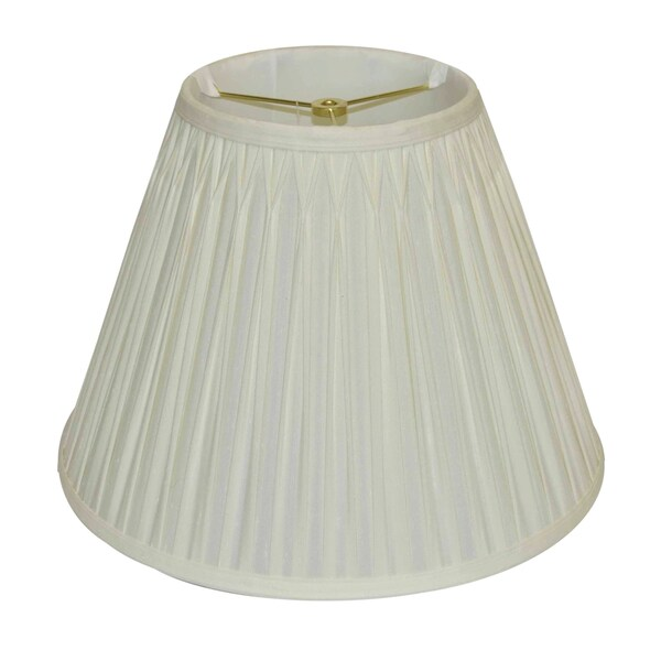 Round Double Pinch Pleated Silk Shade