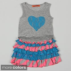 Funkyberry Girl's Tank Top and Ruffle Skirt Set