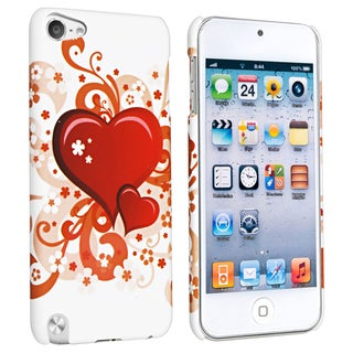 BasAcc White/ Red Hearts Case for Apple iPod Touch Generation 5