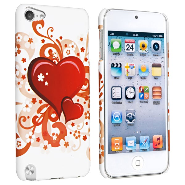 Insten Red Heart Hard Snap-on Rubberized Matte Case Cover For Apple iPod Touch 5th/ 6th Gen
