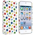 BasAcc White/ Flower Style 10 Case for Apple iPod Touch Generation 5