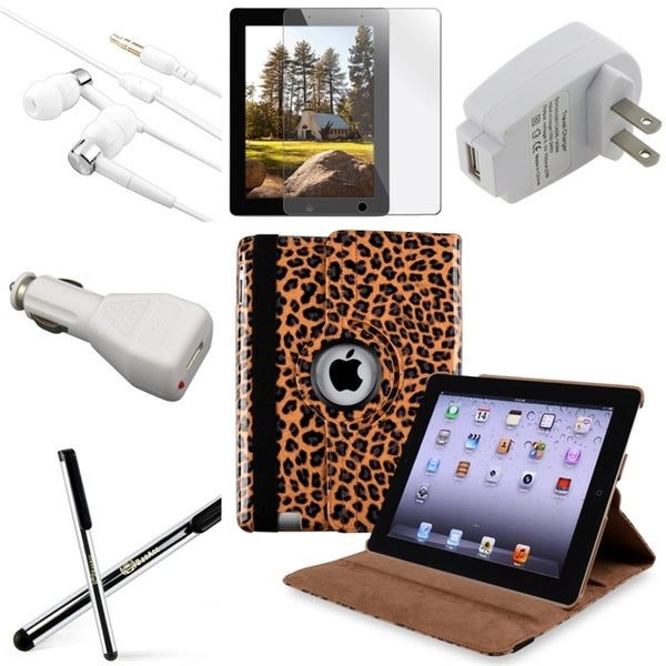 BasAcc BasAcc Case/ Protector/ Stylus/ Chargers/ Headset for Apple iPad 2/ 3/ 4