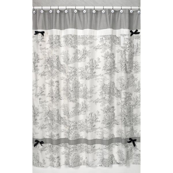 Sweet Jojo Designs Black French Toile Shower Curtain