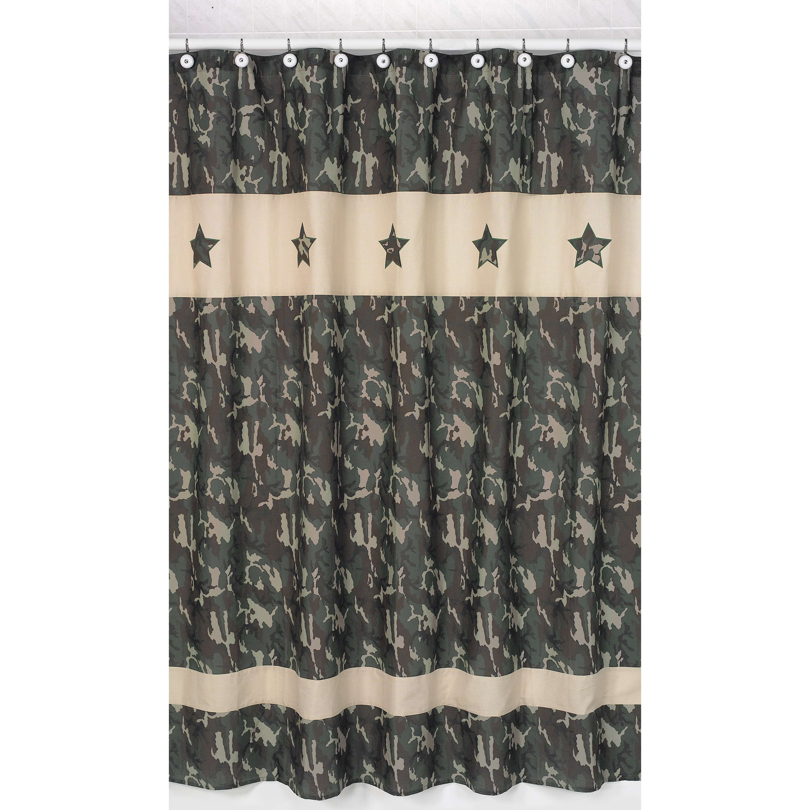Sweet Jojo Designs Green Army Camouflage Kids Shower Curtain at Sears.com