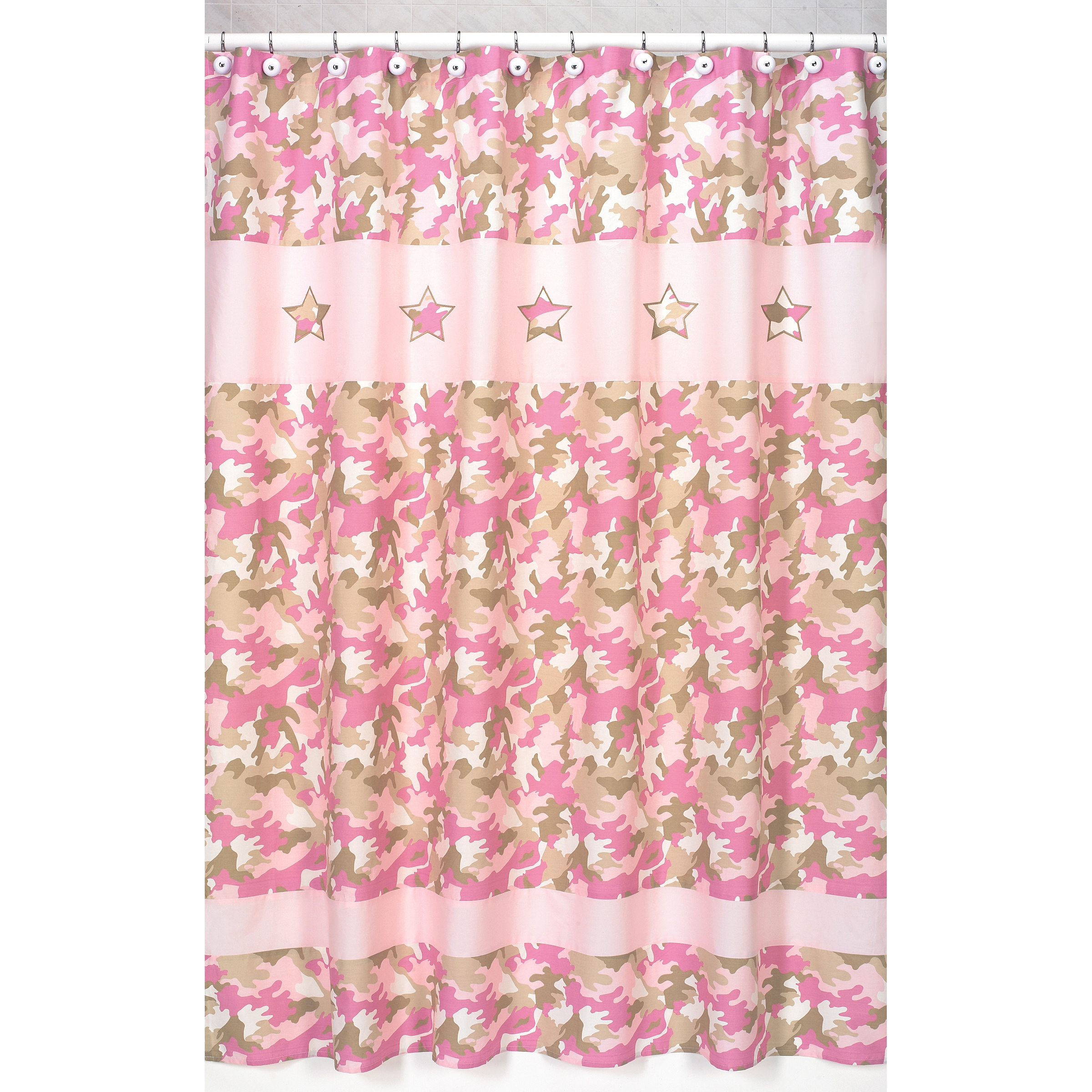 Sweet Jojo Designs Pink and Khaki Camouflage Kids Shower Curtain at Sears.com