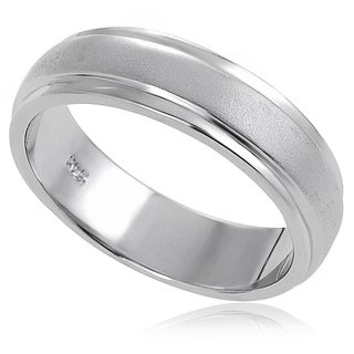Tressa Sterling Silver Brushed Band (6 mm)