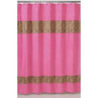 Sweet Jojo Designs Cheetah Girl Pink and Brown Shower Curtain