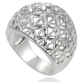 Tressa Sterling Silver Domed Ring