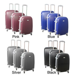 World Traveler Argo 3-piece Expandable Lightweight Hardside Spinner Luggage Set