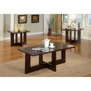 Solid Wood Rectangle Coffee Table Set
