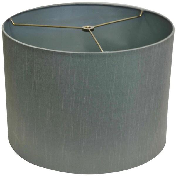 Round Hardback Blue Fabric Shade