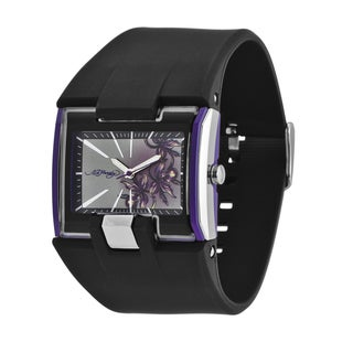 Ed Hardy Women's Stainless Steel 'Orchid' Watch