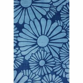 nuLOOM Handmade Daisy Blue Rug