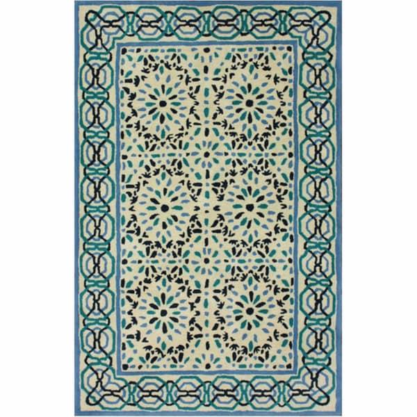 nuLOOM Handmade Moroccan Gate Natural Wool Rug (7'6 x 9'6)