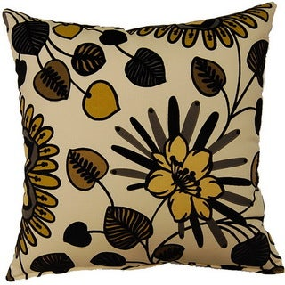 Belcanto Ebony 17-inch Throw Pillows (Set of 2)