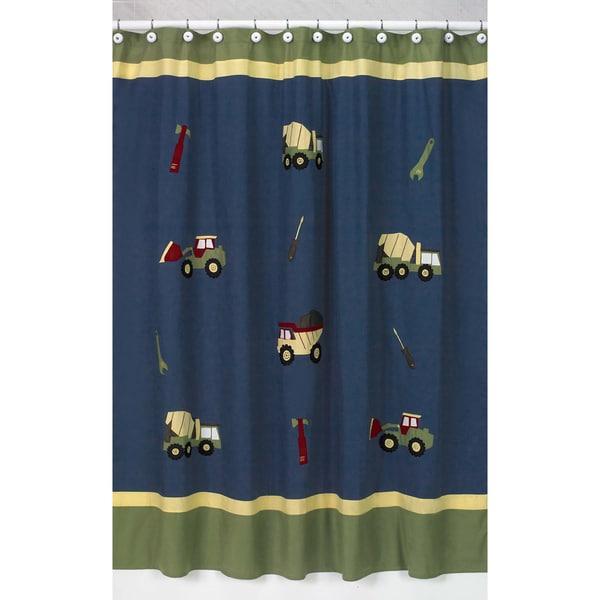 Sweet Jojo Designs Construction Zone Shower Curtain