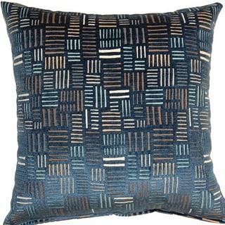 Bleeker Navy 17-inch Throw Pillows (Set of 2)