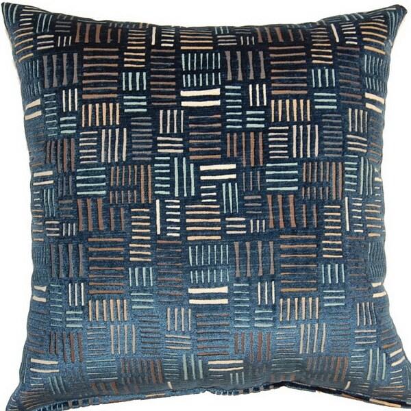 Bleeker Navy 17-inch Throw Pillows (Set of 2)