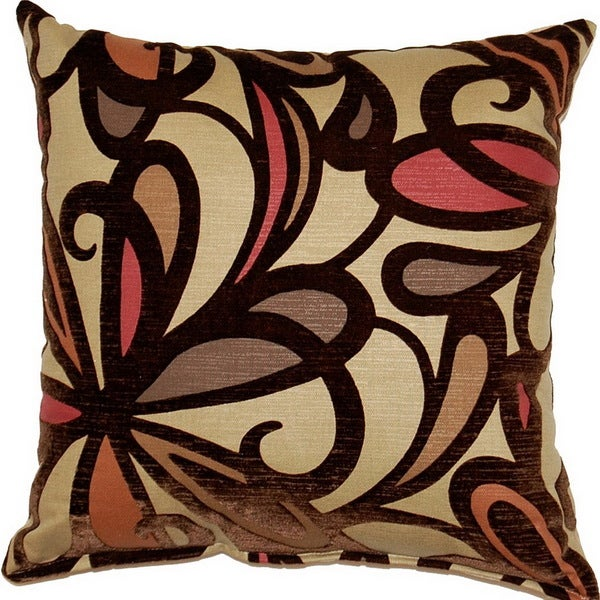 Fanfare Burgundy 17-inch Throw Pillows (Set of 2)