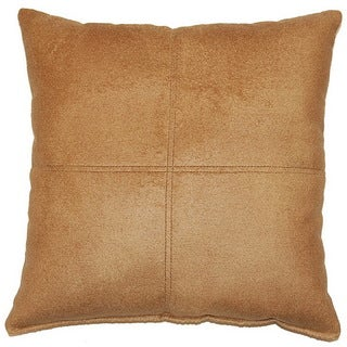 Soft Saddle Brown 17-inch Throw Pillows (Set of 2)