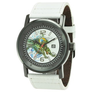 Ed Hardy Men's Black Steel 'Panther' Tattoo Watch