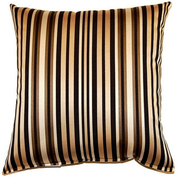 Irving Stripe Midnight 17-inch Throw Pillows (Set of 2)