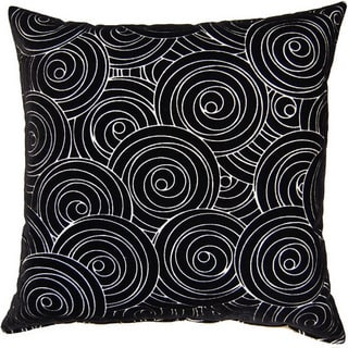 Jenks Ebony 17-inch Throw Pillows (Set of 2)