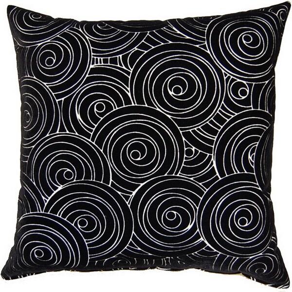 Jenks Ebony 17-inch Throw Pillows (Set of 2)
