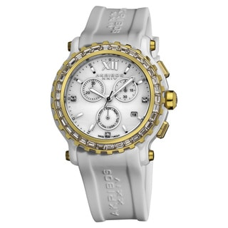 Akribos XXIV Women's Ceramic Chronograph Watch