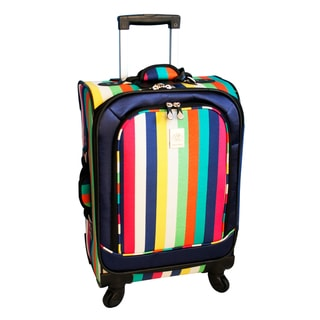 Jenni Chan Multi Stripes 21-inch 360 Quattro Carry-on Spinner Upright
